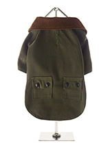 Woodland Jacket - Whether strolling through the city centre or along a country lane your pup will look the part in our British styled Town and Country Jacket. The beautiful soft corduroy collar has an enamel Urban Pup label pin as standard that adds just that little extra touch of class. The hard wearing canvas outer...