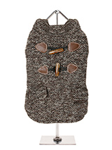 Brown Argyll Tweed Coat - This traditional British fabric has heritage and class and as tweed is never out of style it will stay on trend year in year out. Two faux pockets and a set of faux toggle fastenings complete the look. With its soft funnel neck this stunning coat is elegant and practical and is guaranteed to keep th...