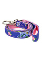 Pink / Blue Floral Burst Fabric Lead