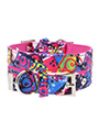 Pink Graffiti Fabric Collar